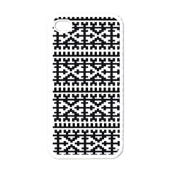 Model Traditional Draperie Line Black White Apple Iphone 4 Case (white)