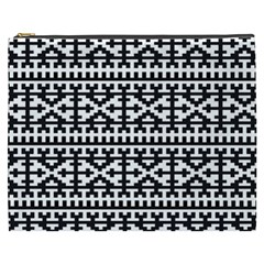 Model Traditional Draperie Line Black White Cosmetic Bag (xxxl)