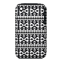Model Traditional Draperie Line Black White Iphone 3s/3gs