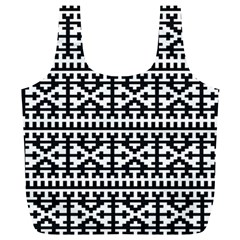 Model Traditional Draperie Line Black White Full Print Recycle Bags (l)