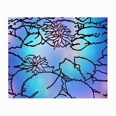 Lotus Flower Wall Purple Blue Small Glasses Cloth (2 Side)
