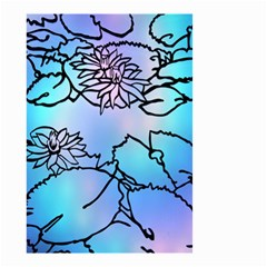 Lotus Flower Wall Purple Blue Small Garden Flag (two Sides)