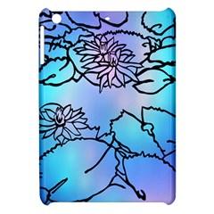 Lotus Flower Wall Purple Blue Apple Ipad Mini Hardshell Case