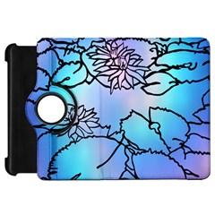 Lotus Flower Wall Purple Blue Kindle Fire Hd 7
