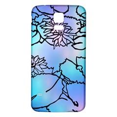 Lotus Flower Wall Purple Blue Samsung Galaxy S5 Back Case (white)