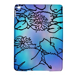 Lotus Flower Wall Purple Blue Ipad Air 2 Hardshell Cases