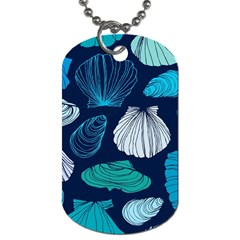 Mega Menu Seashells Dog Tag (one Side)