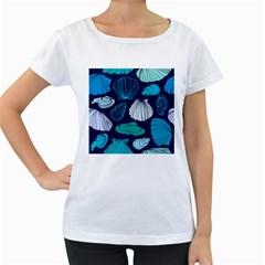 Mega Menu Seashells Women s Loose Fit T Shirt (white)