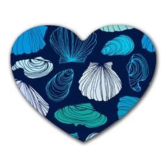 Mega Menu Seashells Heart Mousepads