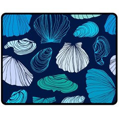 Mega Menu Seashells Double Sided Fleece Blanket (medium)