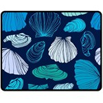 Mega Menu Seashells Double Sided Fleece Blanket (Medium)  60 x50 Blanket Back