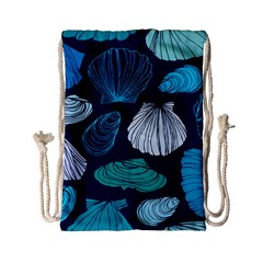 Mega Menu Seashells Drawstring Bag (small)