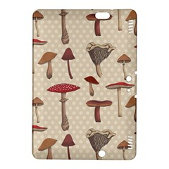 Mushroom Madness Red Grey Brown Polka Dots Kindle Fire Hdx 8 9  Hardshell Case