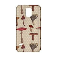 Mushroom Madness Red Grey Brown Polka Dots Samsung Galaxy S5 Hardshell Case