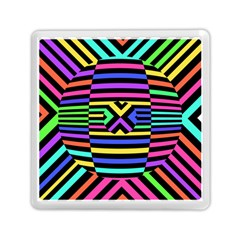 Optical Illusion Line Wave Chevron Rainbow Colorfull Memory Card Reader (square)