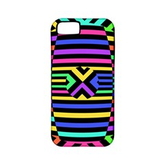 Optical Illusion Line Wave Chevron Rainbow Colorfull Apple Iphone 5 Classic Hardshell Case (pc+silicone)