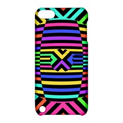 Optical Illusion Line Wave Chevron Rainbow Colorfull Apple Ipod Touch 5 Hardshell Case With Stand