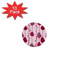 Original Tree Bird Leaf Flower Floral Pink Wave Chevron Blue Polka Dots 1  Mini Buttons (10 Pack)