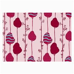 Original Tree Bird Leaf Flower Floral Pink Wave Chevron Blue Polka Dots Large Glasses Cloth