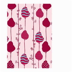 Original Tree Bird Leaf Flower Floral Pink Wave Chevron Blue Polka Dots Small Garden Flag (two Sides)