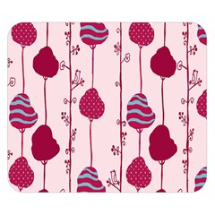 Original Tree Bird Leaf Flower Floral Pink Wave Chevron Blue Polka Dots Double Sided Flano Blanket (small)