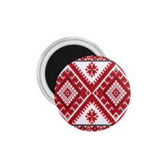 Model Traditional Draperie Line Red White Triangle 1 75  Magnets