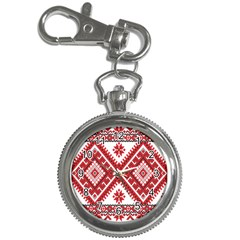 Model Traditional Draperie Line Red White Triangle Key Chain Watches