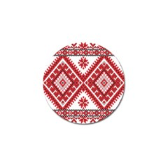 Model Traditional Draperie Line Red White Triangle Golf Ball Marker