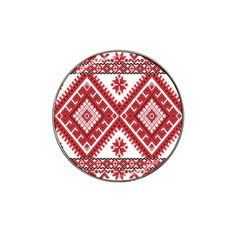 Model Traditional Draperie Line Red White Triangle Hat Clip Ball Marker