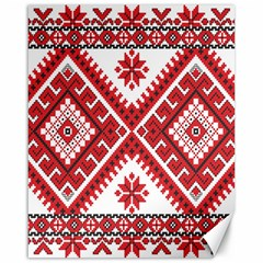 Model Traditional Draperie Line Red White Triangle Canvas 16  X 20