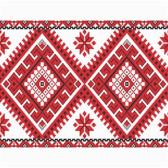 Model Traditional Draperie Line Red White Triangle Canvas 36  X 48