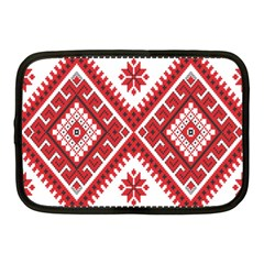Model Traditional Draperie Line Red White Triangle Netbook Case (medium)
