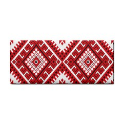Model Traditional Draperie Line Red White Triangle Cosmetic Storage Cases