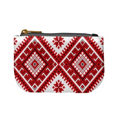 Model Traditional Draperie Line Red White Triangle Mini Coin Purses