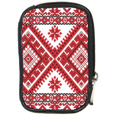 Model Traditional Draperie Line Red White Triangle Compact Camera Cases