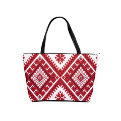 Model Traditional Draperie Line Red White Triangle Shoulder Handbags