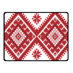 Model Traditional Draperie Line Red White Triangle Fleece Blanket (small)