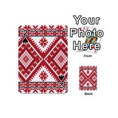Model Traditional Draperie Line Red White Triangle Playing Cards 54 (mini)