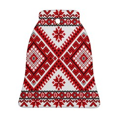 Model Traditional Draperie Line Red White Triangle Bell Ornament (two Sides)