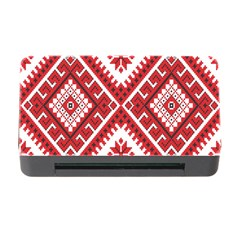 Model Traditional Draperie Line Red White Triangle Memory Card Reader With Cf