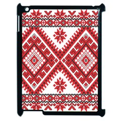 Model Traditional Draperie Line Red White Triangle Apple Ipad 2 Case (black)