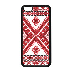Model Traditional Draperie Line Red White Triangle Apple Iphone 5c Seamless Case (black)