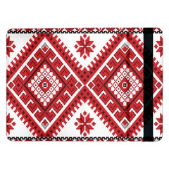 Model Traditional Draperie Line Red White Triangle Samsung Galaxy Tab Pro 12 2  Flip Case