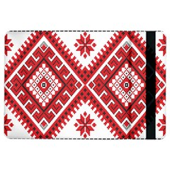 Model Traditional Draperie Line Red White Triangle Ipad Air 2 Flip
