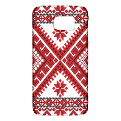 Model Traditional Draperie Line Red White Triangle Galaxy S6
