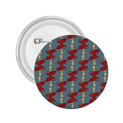 Mushroom Madness Red Grey Polka Dots 2 25  Buttons
