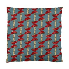 Mushroom Madness Red Grey Polka Dots Standard Cushion Case (two Sides)