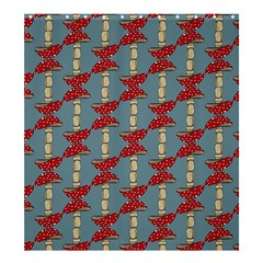 Mushroom Madness Red Grey Polka Dots Shower Curtain 66  X 72  (large)