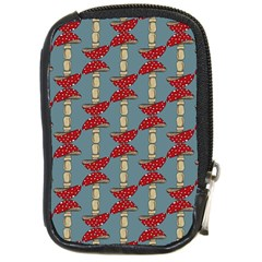 Mushroom Madness Red Grey Polka Dots Compact Camera Cases