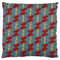 Mushroom Madness Red Grey Polka Dots Large Cushion Case (one Side)